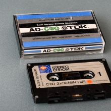 Kassettband för lagring av data i kassetspelare