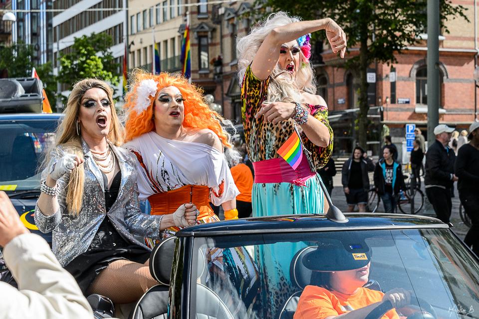 Regnbågsparad West Pride 2015 Göteborg